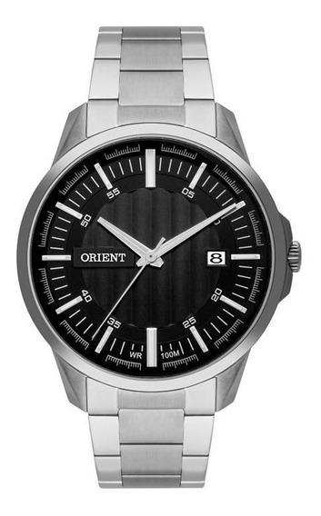 Relógio Orient Masculino Fundo Preto Original Mbss1353 P1sx