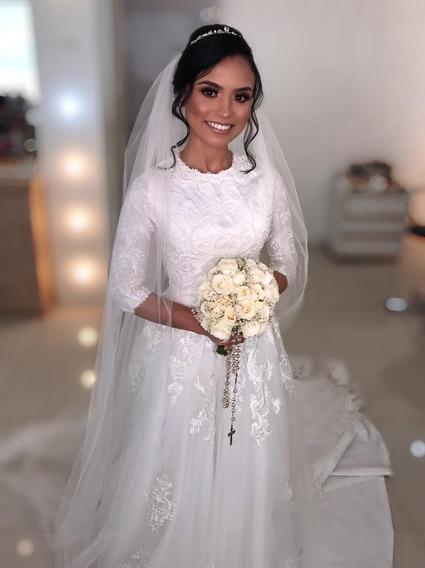 Vestido De Noiva Modesto
