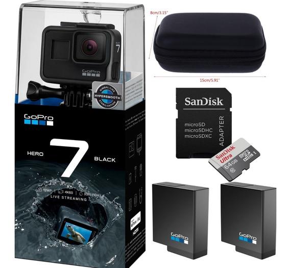 Câmera Digital Gopro Hero7 Black 4k+ Cartão 64gb +2baterias