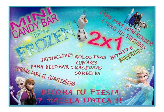 Kit Imprimible Mini Candy Bar Frozen! 2x1 Imperdible