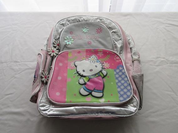 Mochila Escolar De Kitty Para Nena, Muy Buen Estado!!
