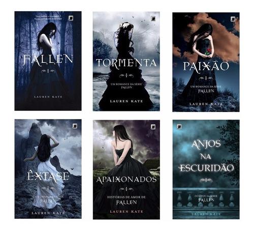 Kit Série Fallen 5 Livros E Anjos Na Escuridão - Lauren Kate