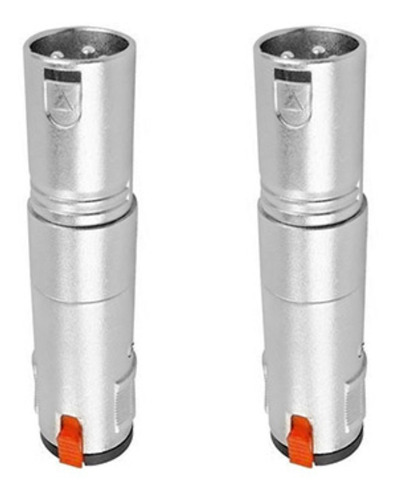 Imagem 1 de 7 de Kit 2 Plug Adaptador Star Cable Xlr  M  - Jack J10m C/ Trava