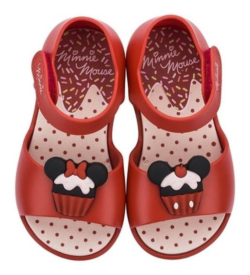 Sandália Infantil Disney Fun Minnie Vermelho Grendene Clique