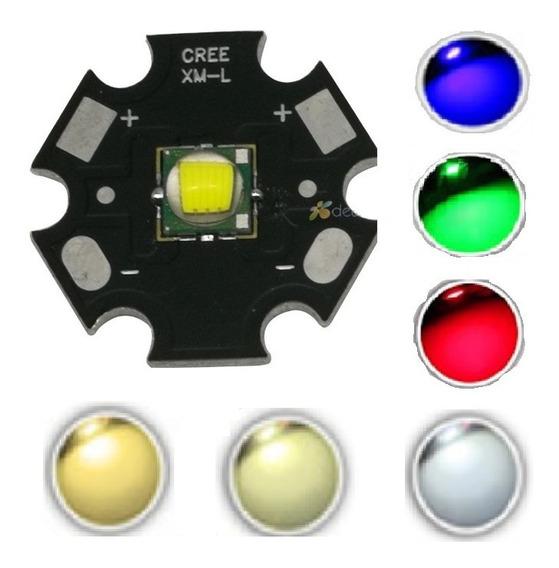 Super Chip Led Cree 10w Xml T6 Farol Lanterna Varias Cores