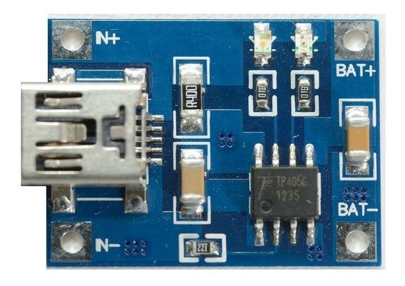 Usb Carregador Bateria Litio 1a 5v Arduino Tp4056 18650