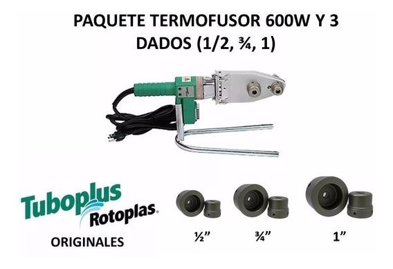 Paquete Termofusor 600w Dado 1/2, 3/4,1, Tuboplus