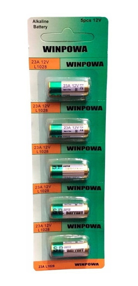Bateria Alcalina 23a 12v L1028 Cartela Com 5 Peças