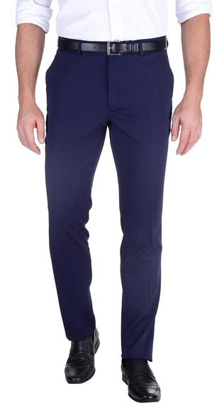 Calça Social Gabardine Nova Slim Azul Marinho 49516 Colombo