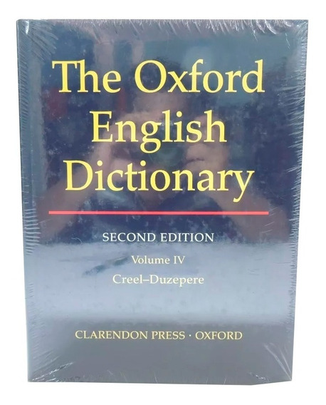 Livro The Oxford English Dictionary 2nd Vol. 4 Em Inglês