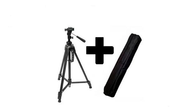 Tripé Câmera Profissional 1,30 Mts + Suporte Celular