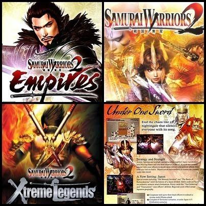 Ps2 - Samurai Warriors - 4 Dvds - Patch Desbloqueado