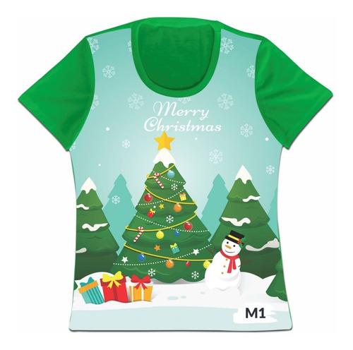 Camiseta Navideña Navidad Personalizada Dama Caballero Niño