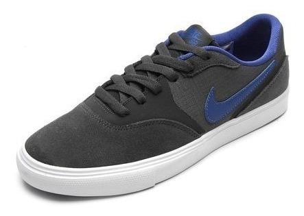 Tênis Nike Sb Paul Rodriguez 9 Vr Cinza/azul Original