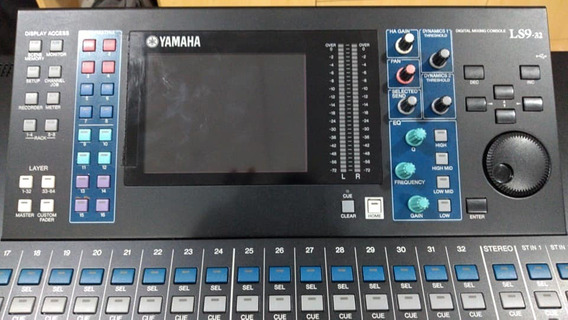 Mesa De Som Digital Yamaha Ls9-32 C/ Placa Dante