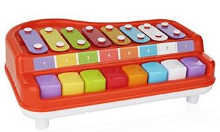 2 En 1 Xilófono Para Niños, Para Su Músico Mini / Piano / Ca