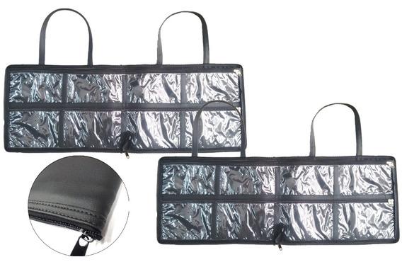 2 X Bolsa Porta Esmaltes Maquiagem Couro Ecológico Premium