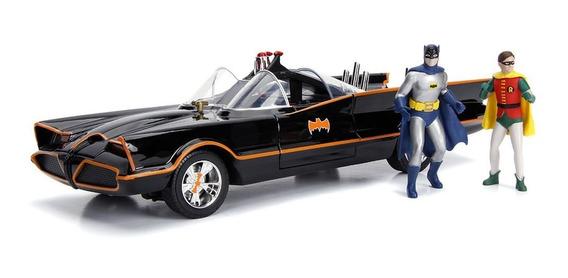 Batmobile 1966 Classic Tv Series Boneco Luzes 1:18 Jada Toys