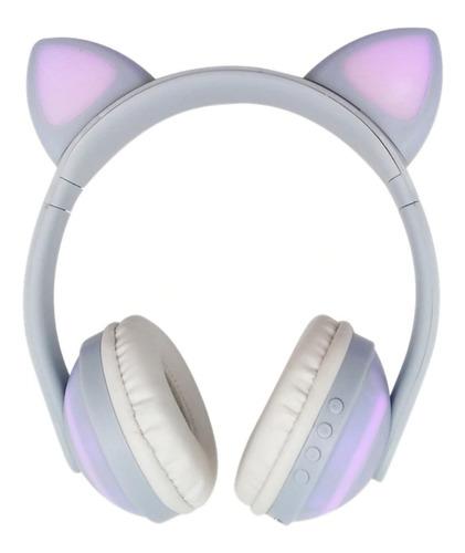 Headphone Orelha De Gato Com Led Bluetooth 5.0 Eargat Branco