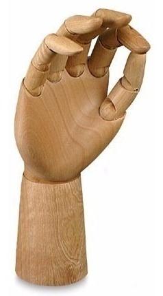 Mao Articulada Para Desenho 30cm Mão Direita