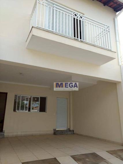 Casa Com 3 Dormitórios À Venda, 150 M² Por R$ 480.000 - Parque Jambeiro - Campinas/sp - Ca1337