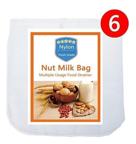 6 Pack Nut Milk Bag12 X12 Iaesthete Reutilizable Food Grade