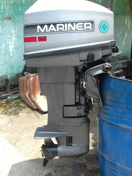 Motor De Popa 25 Hp Mariner .como Novo