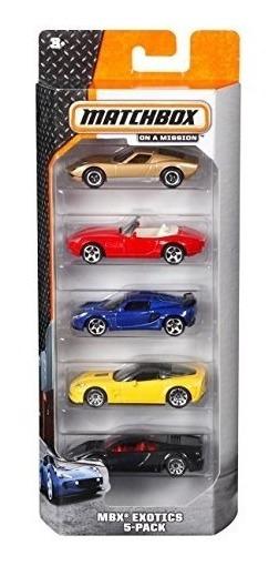 Matchbox Paquete De 5 Autos Surtidos