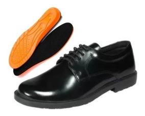 Sapato Social Marinha Militar Preto Couro Cbc +palmilha Gel
