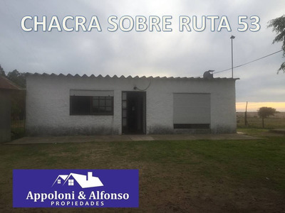 Oportunidad Sobre Ruta 53 A 13 Km De Nueva Helvecia