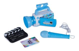 Camara Video Juguete Para Niños Youtuber Reporteros Azul