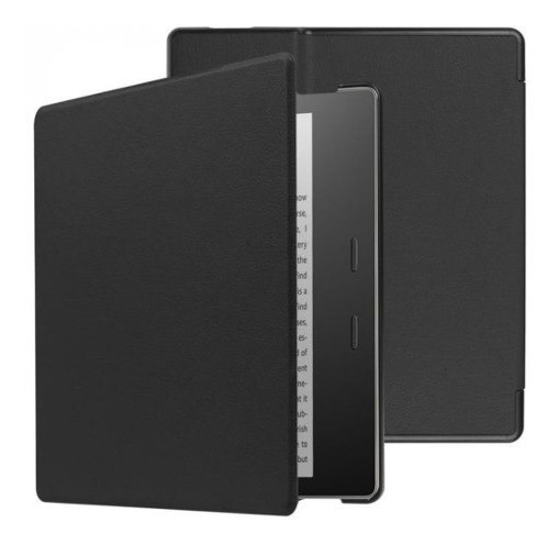 Capa Em Couro Magnética Para Amazon Kindle Oasis - Preta