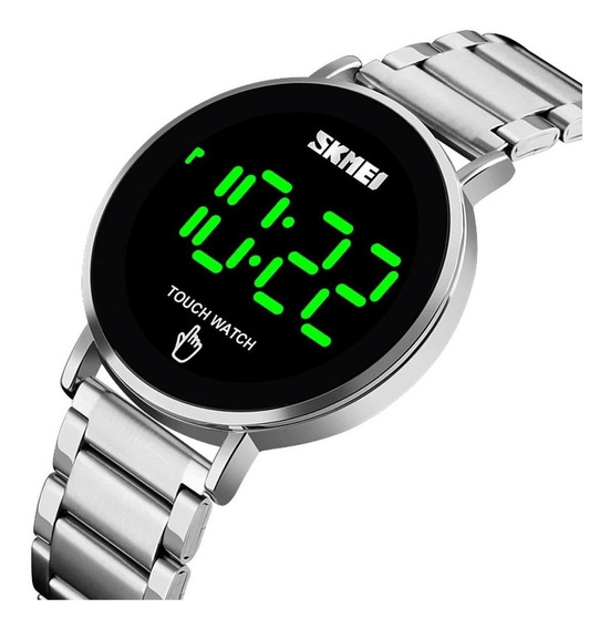 Relógio Unissex Skmei Digital 1550 Prata Touch Watch