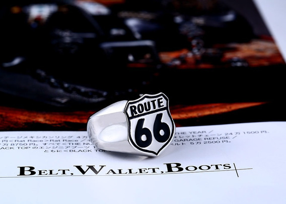 Anel Masculino Rota 66 Motociclista