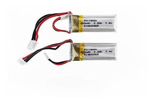 2 Piezas De 7.4v 300mah 20c Lipo Batería Para Wltoys F959 Sk
