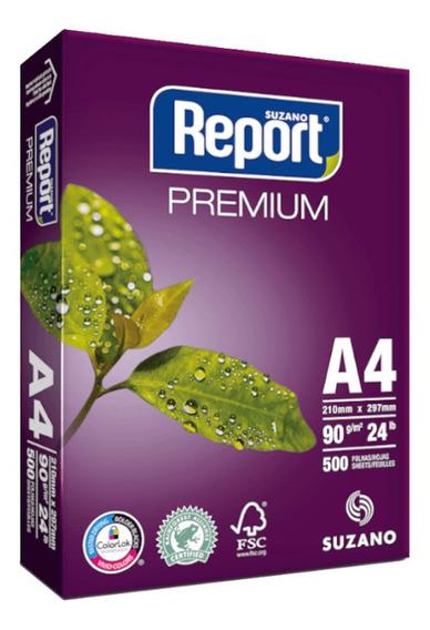 Papel Sulfite A4 90g Resma 500 Folhas Premium Report Suzano