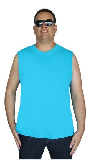 Kit 3 Regata Plus Size Masculina Camiseta Big Extra Grande