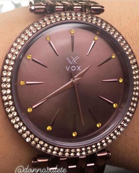 Relógio Feminino Vox Dallas Na Cor Chocolate - Promoção