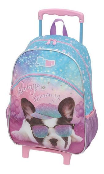 Kit Mochila Rodinha Lanch Estojo Pack Me Puppy Dog Pacific