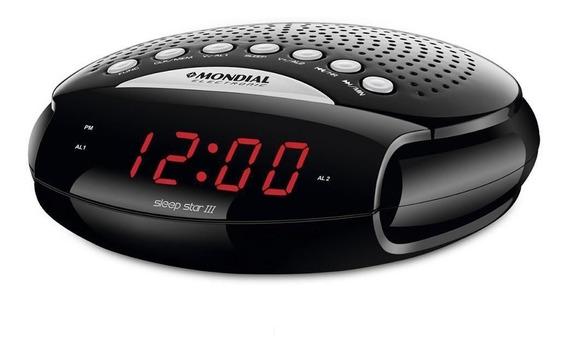 Rádio Relógio Mondial Sleep Star Rádio Am/fm 5w Rr-03 Bivolt