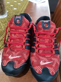 Nike Shox Nz Vermelho E Cinza Usados