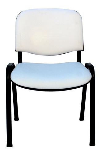Imagen 1 de 1 de Silla de escritorio JMI Fija Tapizada  blanca