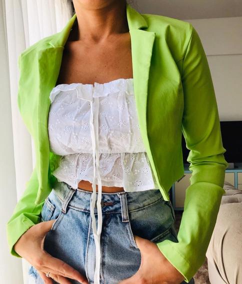 Blazer Saco Mujer Bolero Elastizado M2316
