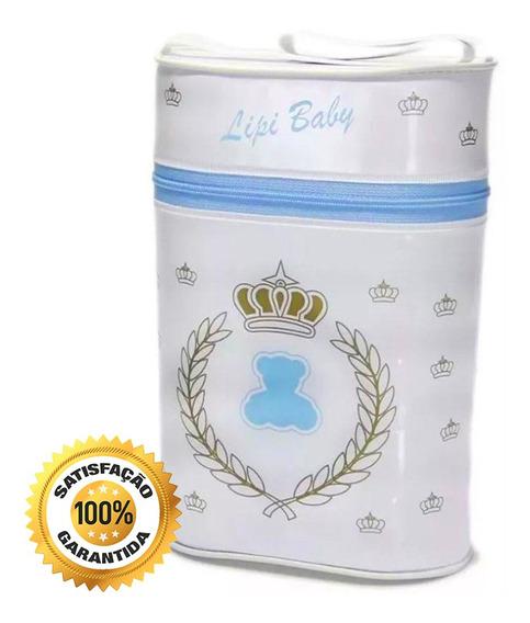 Porta Mamadeira Térmico Duplo Lipi Baby Isopor Azul