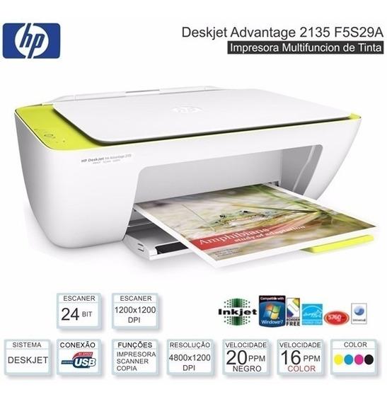 Impressora Hp Deskjet 2135 Multifuncional Colorido
