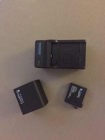 Carregador Duplo + Veicular + Bateria Original Gopro 4