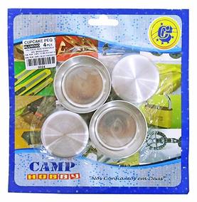Forma De Aluminio Para Cupcake Pequena Kit Com 4 Pecas 2 5x5