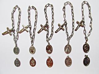 Cadeia Consagraçao Nossa Senhora Inox + Cruz + Medalha