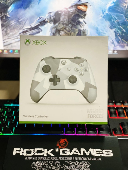 Controle Xbox One S Winter Forces Special - Microsoft - Novo
