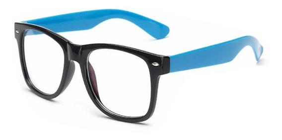 Lentes Antireflejante Hipster Computadora Armazon Azules